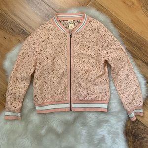 Harper Canyon girls lightweight lace jacket Sz 4